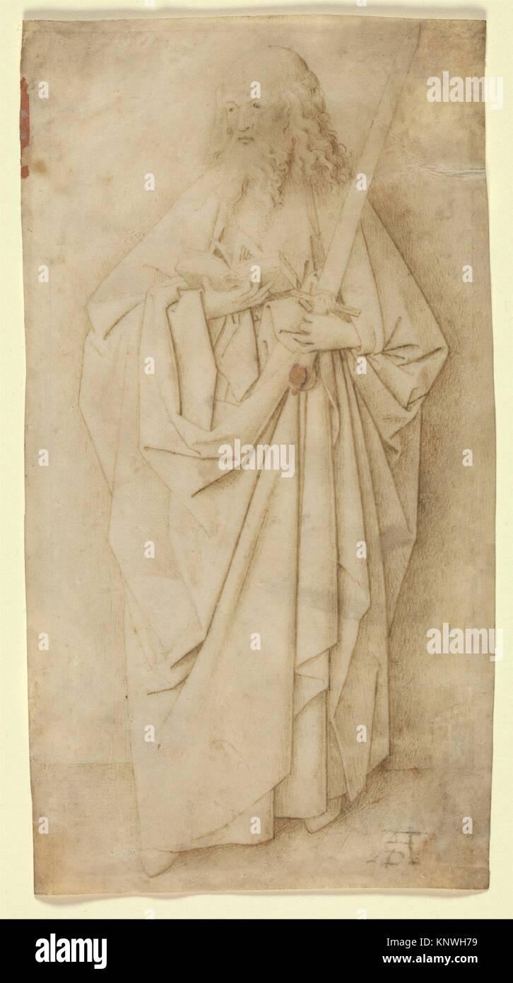 Saint Paul. Artist: Circle of Jan van Eyck (Netherlandish, Maaseyck (?) 1390-Brussels 1441); Date: ca. 1430; Culture: - Stock Image