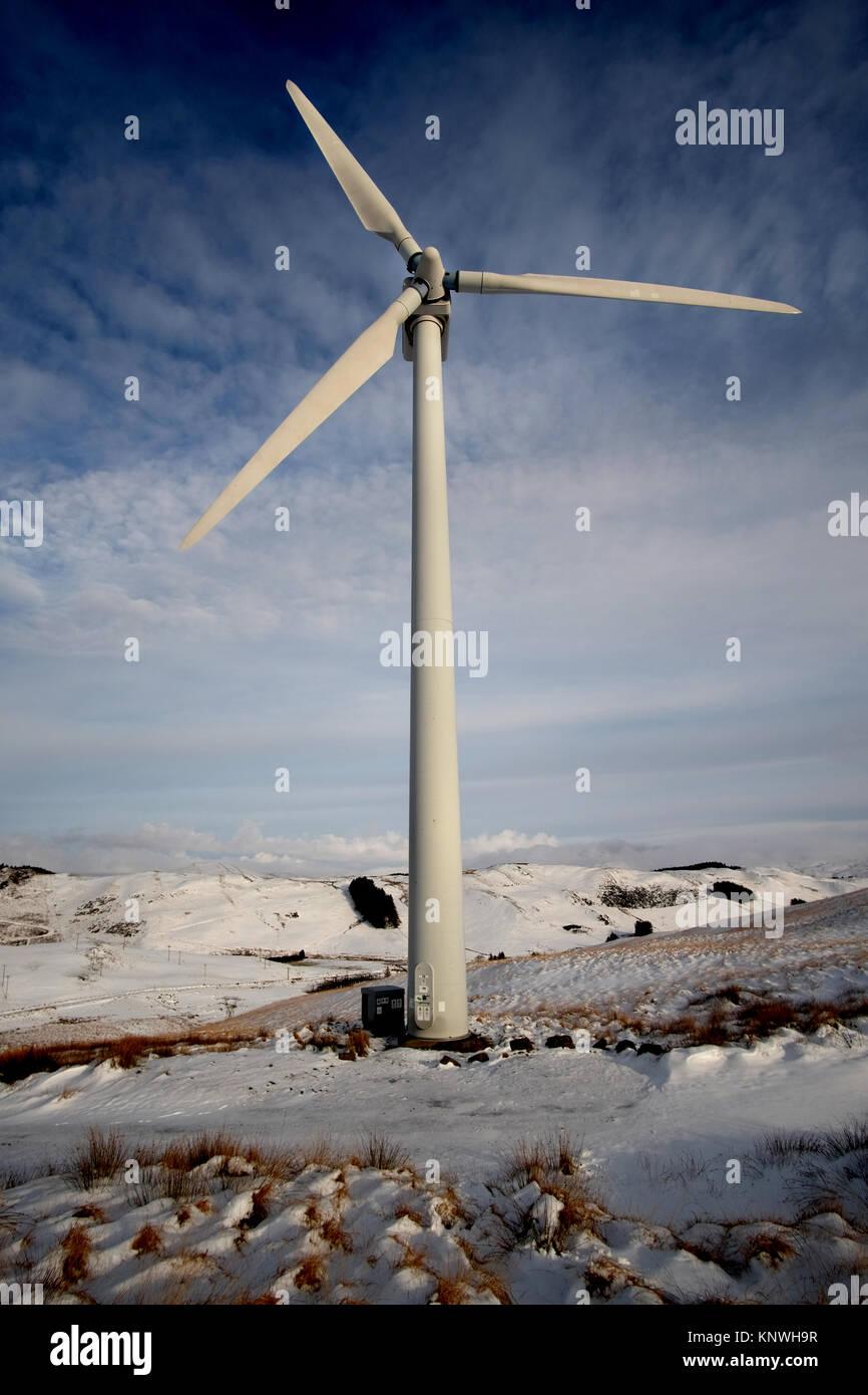 Bonus Turbines at Ventient energy's Nant yr Arian site - Stock Image
