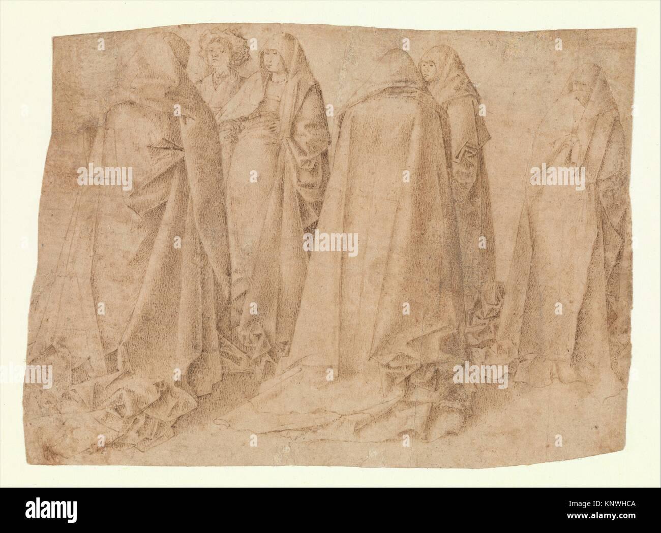 Group of Draped Figures. Artist: Attributed to Antonello da Messina (Antonello di Giovanni d'Antonio) (Italian, - Stock Image