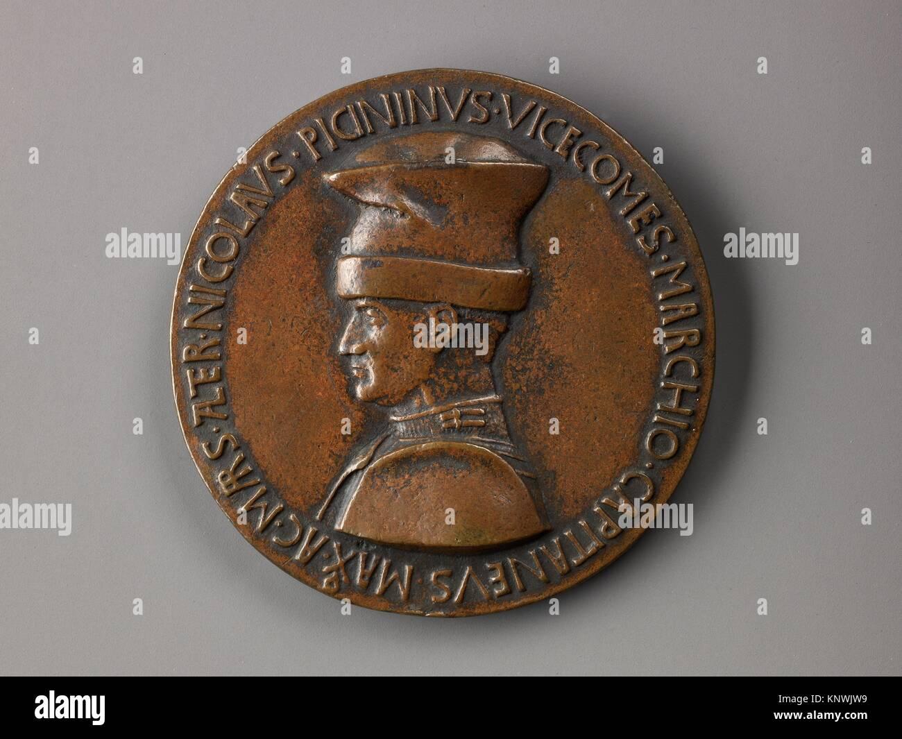 Medal. Artist: Pisanello (Antonio Pisano) (Italian, Pisa or Verona by 1395-1455); Date: model 1440-41 (possibly Stock Photo
