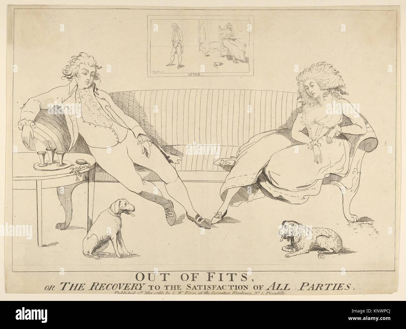 Out of Fits, or the Recovery to the Satisfaction of All Parties. Artist: Attributed to George Townley Stubbs (British, - Stock Image