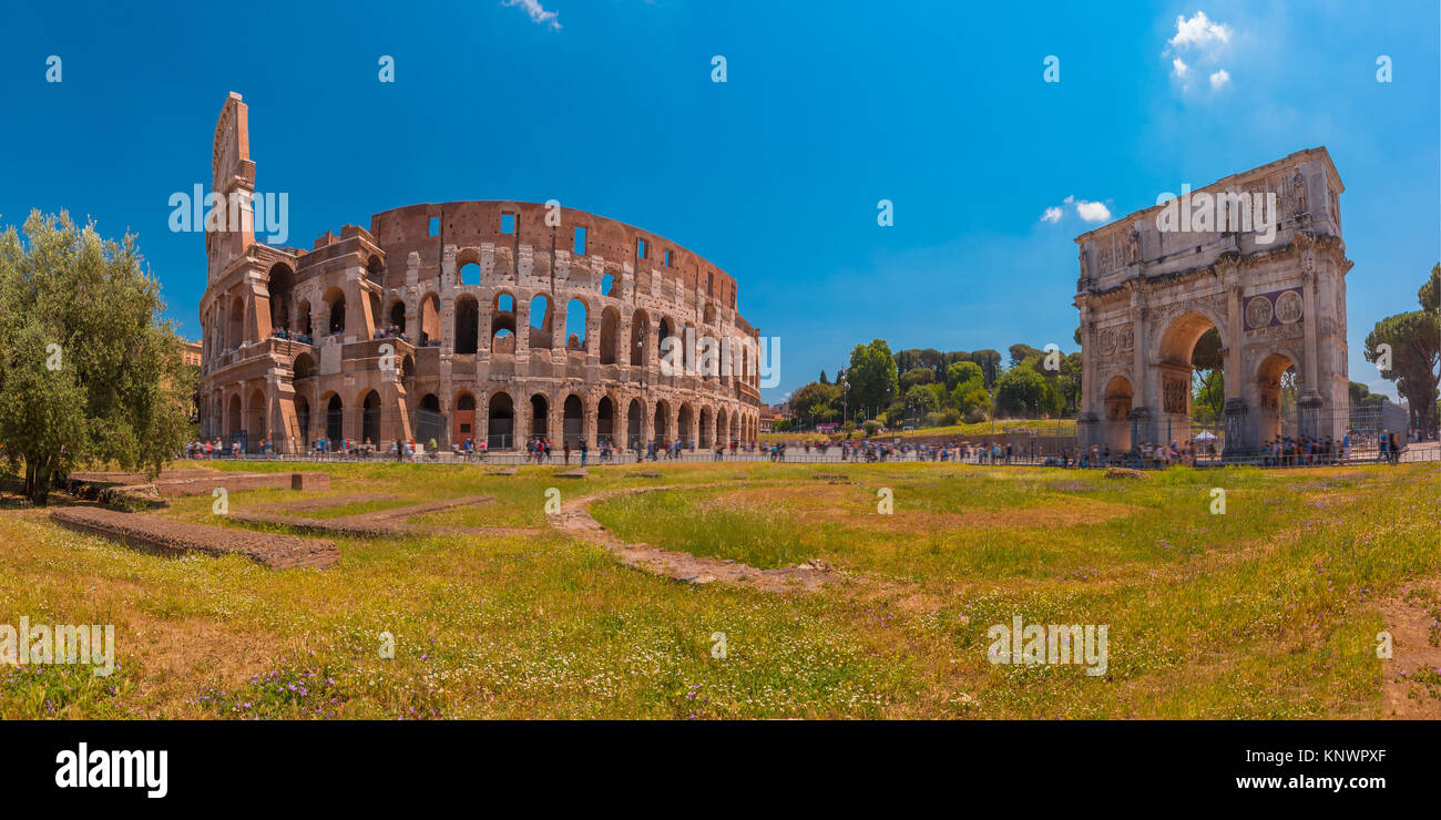 Colosseum or Coliseum in Rome, Italy. - Stock Image