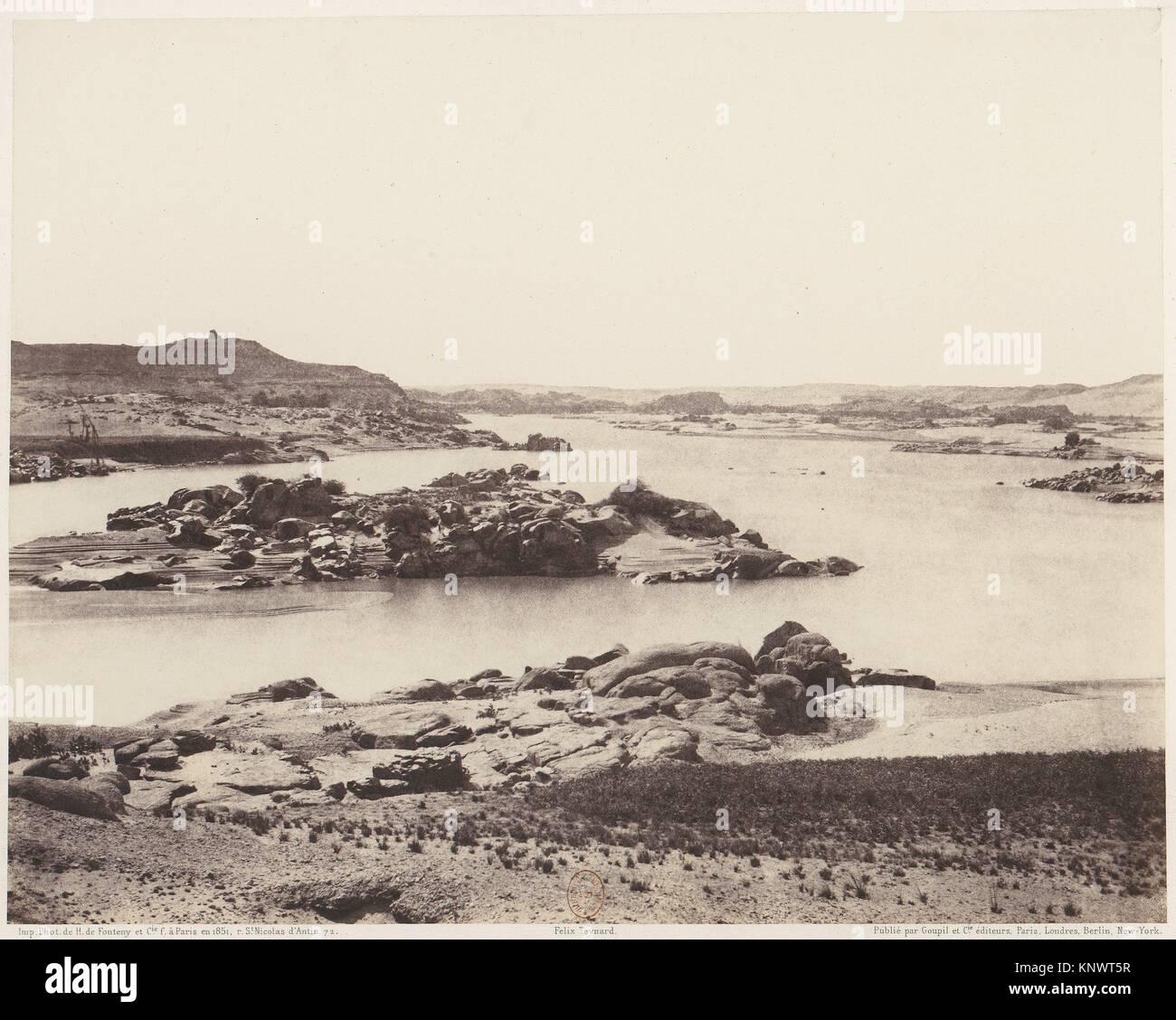 Première Cataracte, Vue Générale Prise de la Point Méridionale de l´Ile d´Éléphantine. - Stock Image