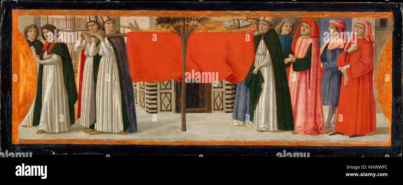 The Burial of Saint Zenobius. Artist: Davide Ghirlandaio (David Bigordi) (Italian, Florence 1452-1525 Florence); - Stock Image