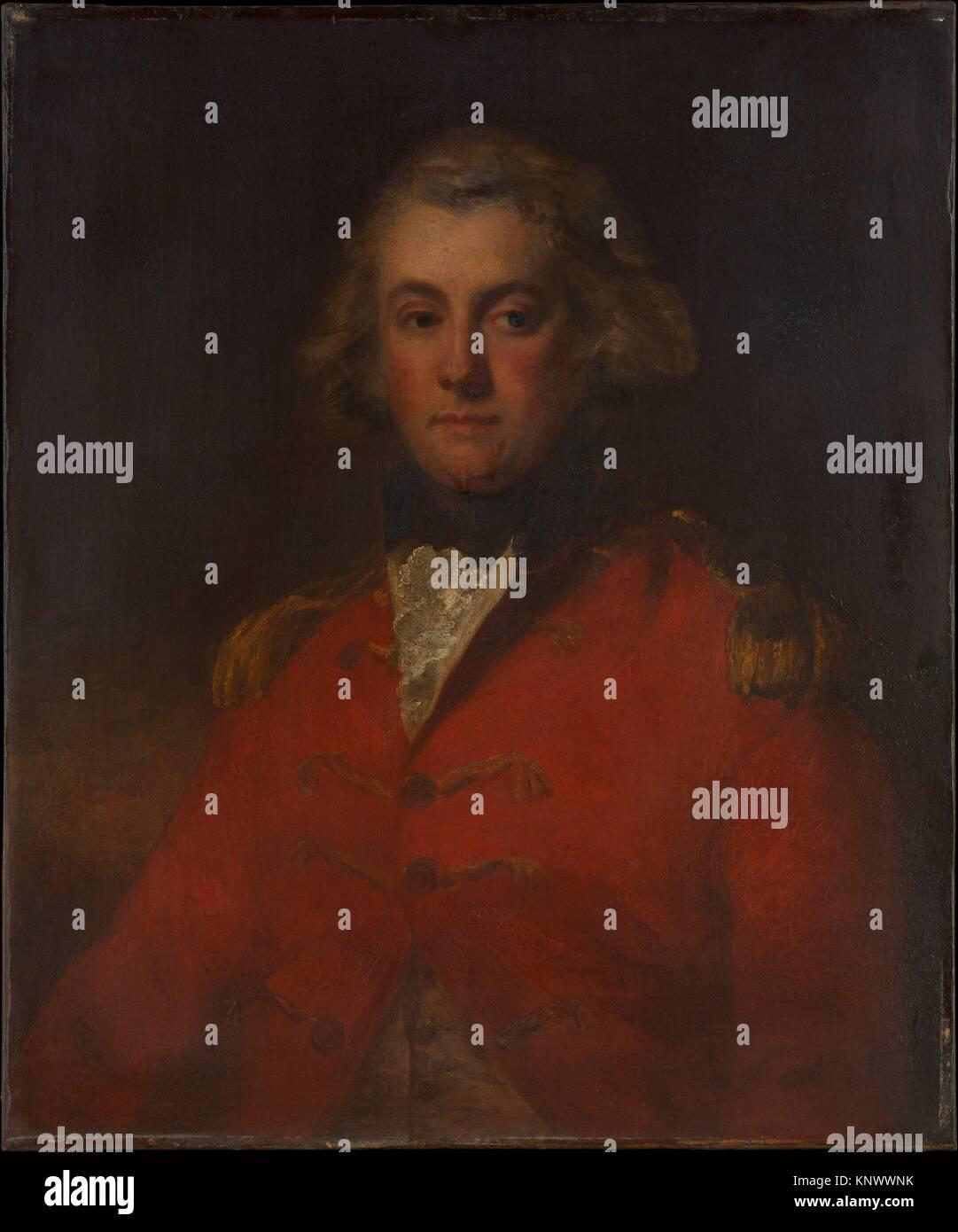 Major Thomas Pechell (1753-1826). Artist: John Hoppner (British, London 1758-1810 London); Date: 1799; Medium: Oil - Stock Image
