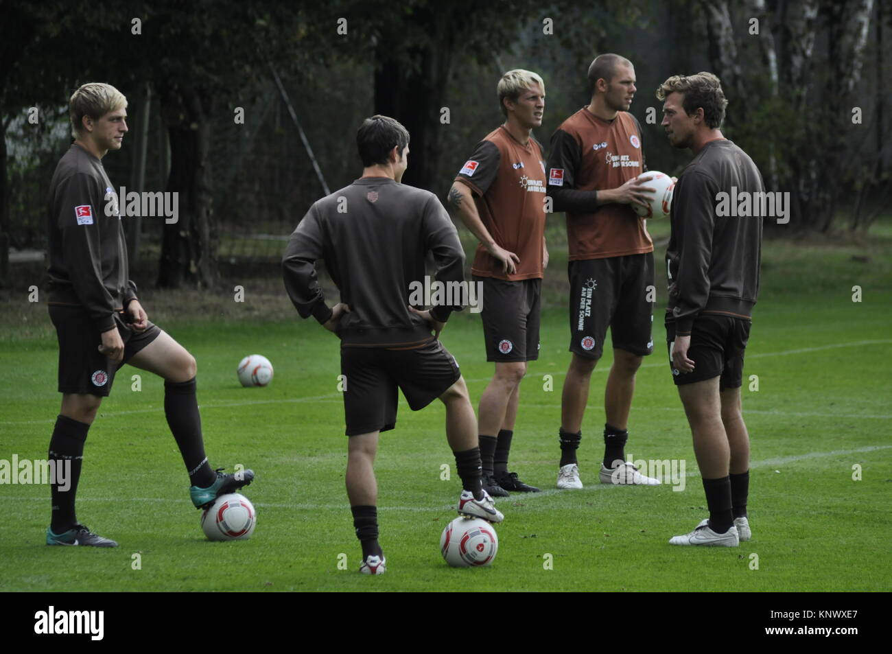 Trainingseinheit, FC St. Pauli, Hamburg, Deutschland - Stock Image