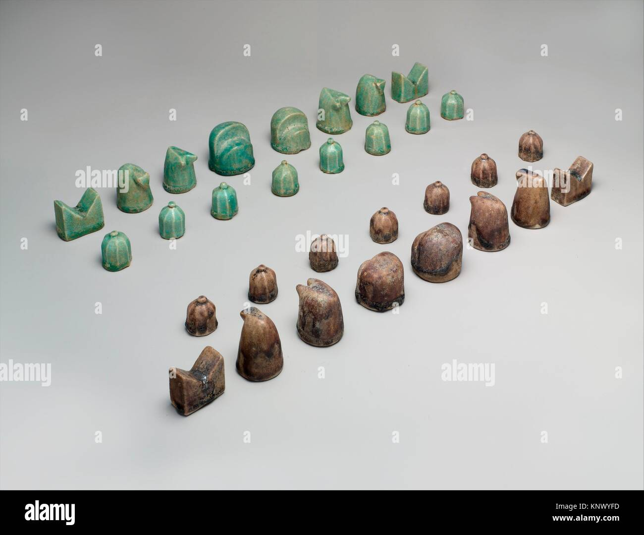 Chess Set. Object Name: Chess set; Date: 12th century; Geography: Attributed to Iran, Nishapur; Medium: Stonepaste; Stock Photo