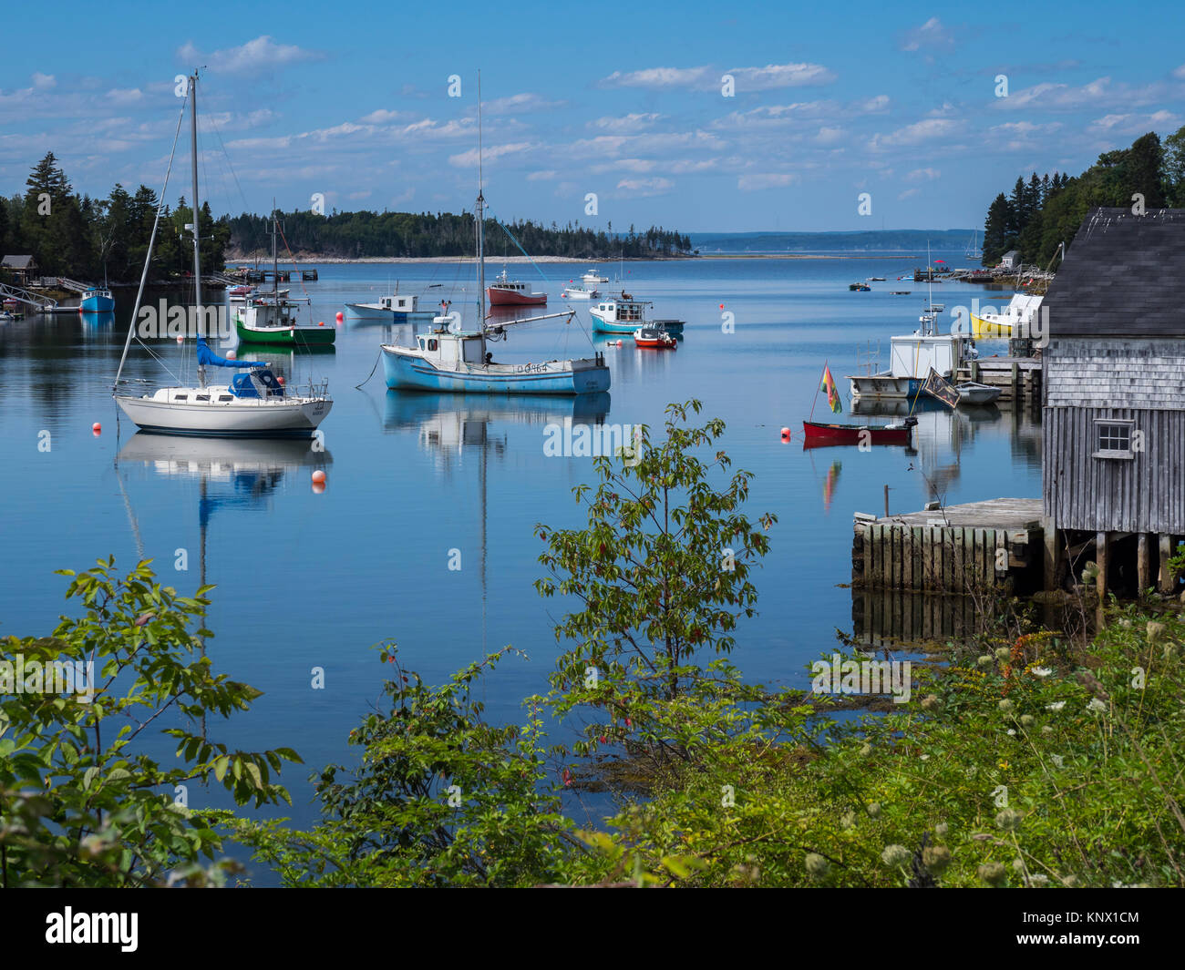 Saint Margaret's Bay near Hackett's Bay, Nova Scotia, Canada. - Stock Image