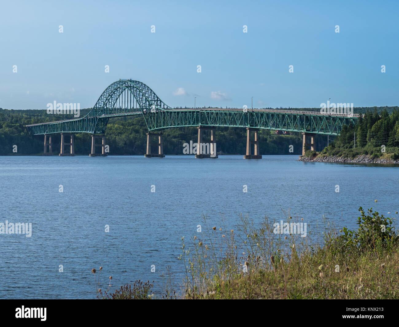 Seal Island Bridge, North Sydney, Nova Scotia, Canada. - Stock Image