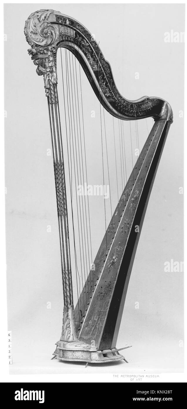 Pedal Harp. Manufacturer: Renault & Chatelain; Date: second half 18th century; Geography: Paris, France; Culture: - Stock Image