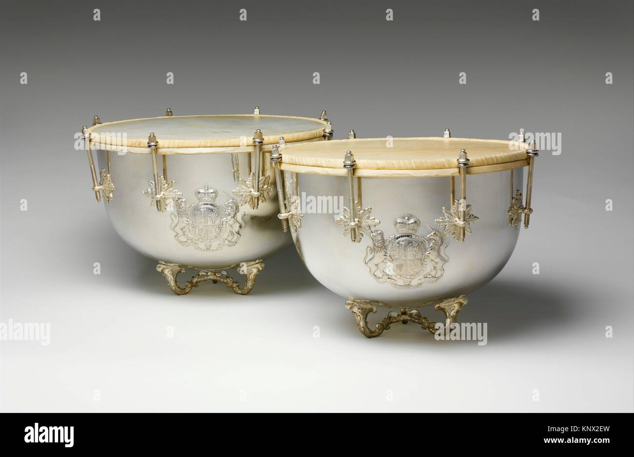 Kettle Drums. Maker: Franz Peter Bunsen (ca. 1725-1795 (master 1754)); Date: 1779; Geography: Hanover, Germany; - Stock Image