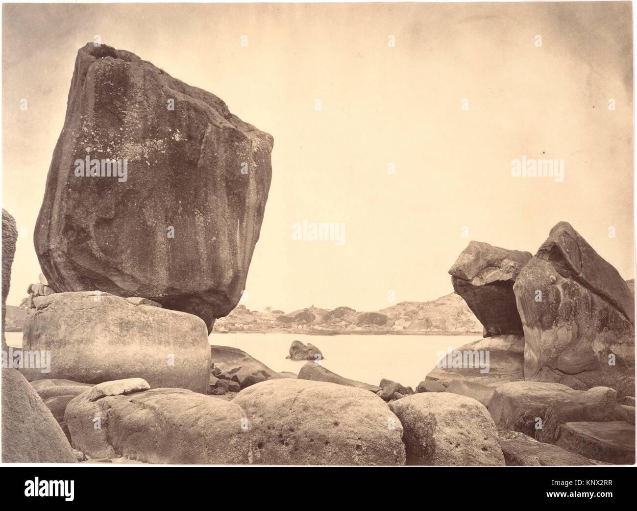 Peculiar shaped Rocks on Roolangsoo Island, Amoy. Artist: John Thomson (British, Edinburgh, Scotland 1837-1921 London); - Stock Image