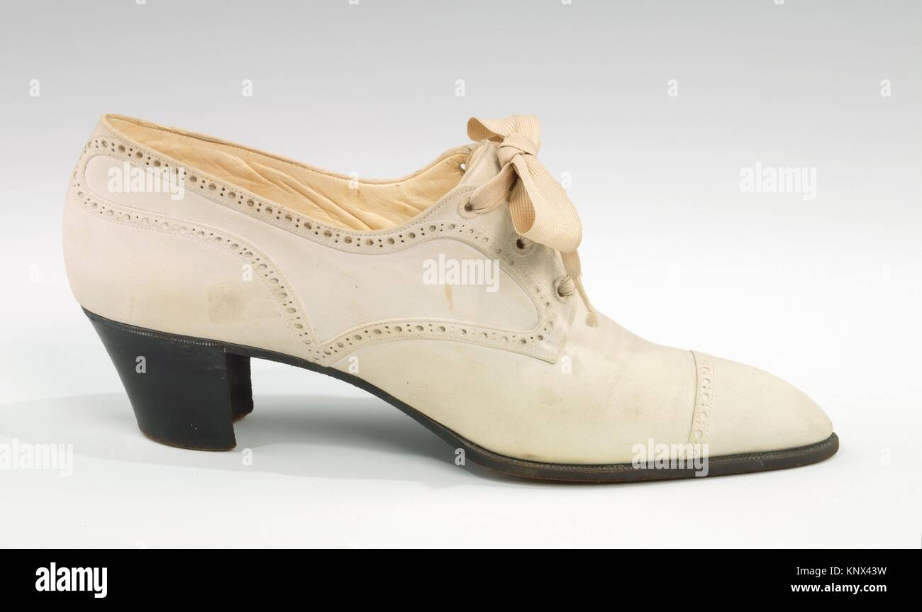 Shoes. Designer: Pierre Yantorny (Italian, 1874-1936); Date: 1914-19; Culture: French; Medium: leather; Credit Line: - Stock Image