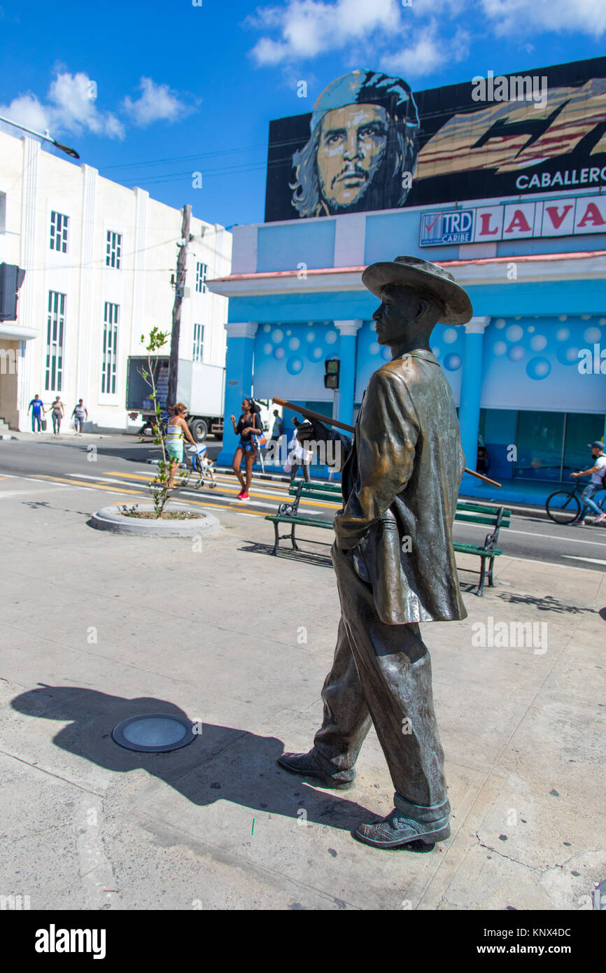 Statue of Benny More, a famous musician, Cienfuegos, Cuba - Stock Image