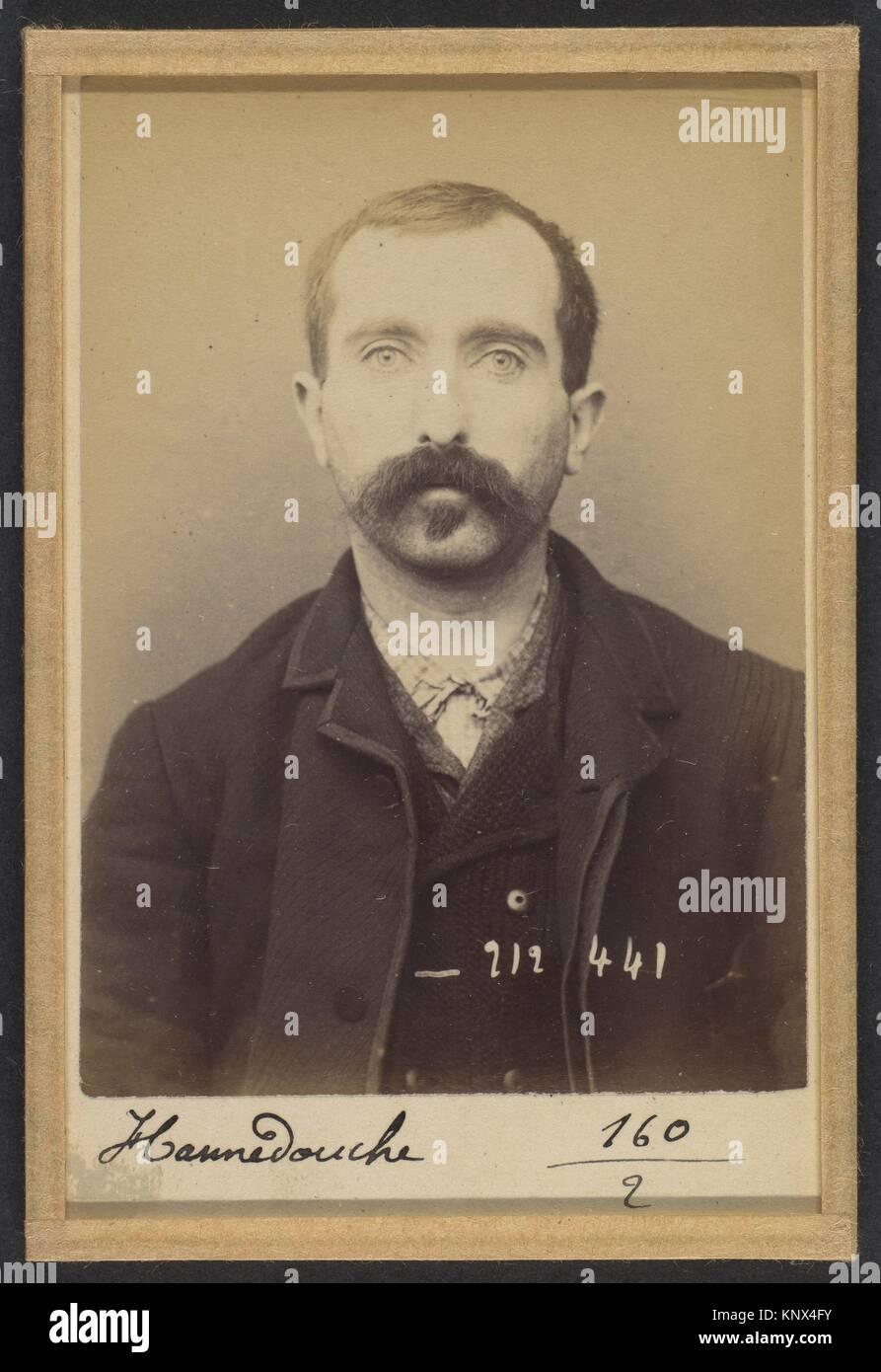 Hannedouche. François. 31 ans, né à Lilleris (Pas de Calais). Peintre en bâtiments. Anarchiste. - Stock Image
