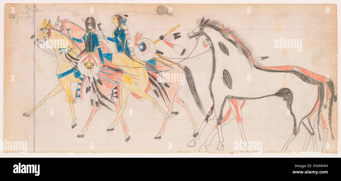 American Indian Horse Drawing High Resolution Stock Photography And Images Alamy