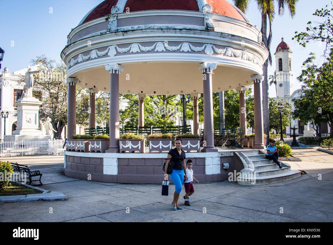 Pavilion, Parque Jose Marti, historic city centre, Cienfuegos, Cuba - Stock Image