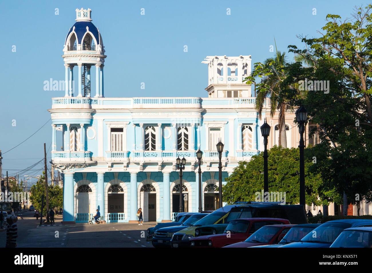 Casa de Cultura in the Palacio Ferrer, Plaza Jose Marti, Cienfuegos, Cuba - Stock Image