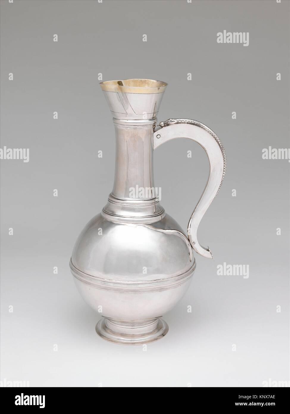 Wine decanter. Maker: Simon Petrus Conrad (master 1771, active until 1793); Date: ca. 1780; Culture: Hungarian, Stock Photo