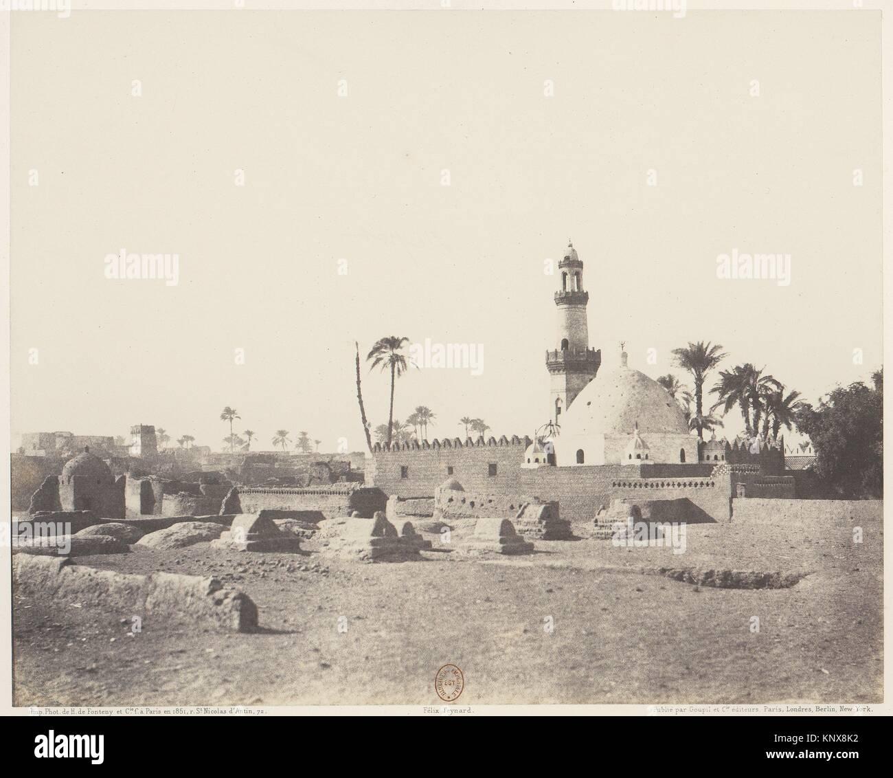 Souâdj, Cimetière Musulman et Tombeau de Mouràd-Bey. Artist: Félix Teynard (French, 1817-1892); - Stock Image