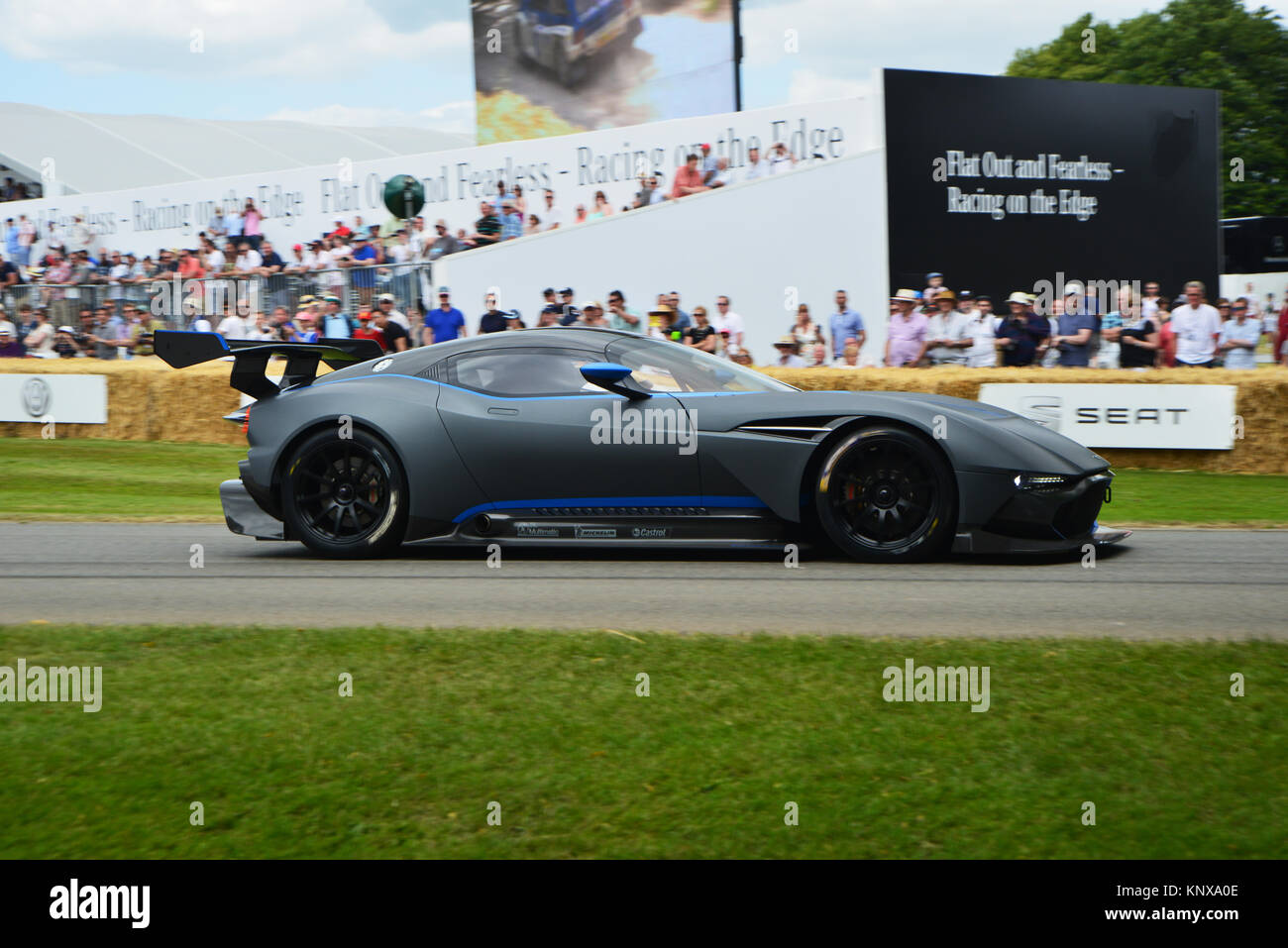 Aston Martin Vulcan, Goodwood FoS 2015, 2015, Classic, entertainment, fearless, Festival of Speed, Flat out, FoS, - Stock Image