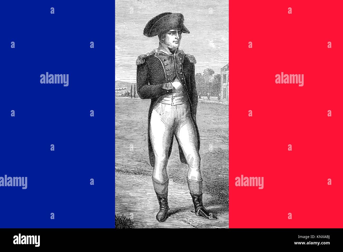 Napoleon Bonaparte, Emperor Napoleon I, 1769 - 1821, French general, statesman and emperor - Stock Image