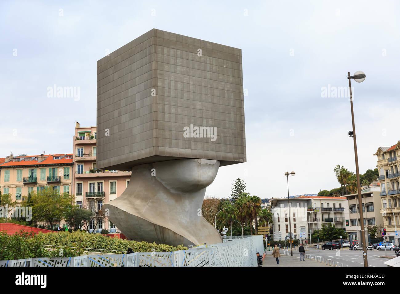 La Tête au Carré, The Square Head sculpture building, a cube shaped ...