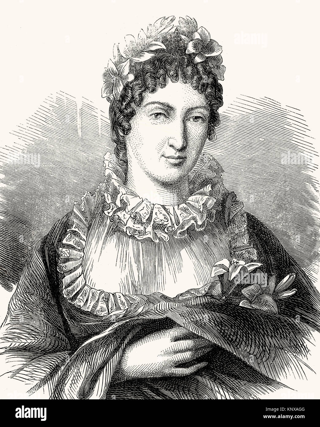 Marie-Thérèse Charlotte of France, Madame Royale, 1778 –1851, Duchess of Angoulême Dauphine of France - Stock Image