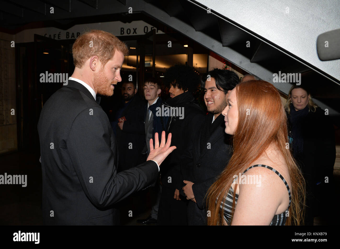 Prince Harry talks with guests, as he meets the CTBF trustees and representatives from Save The Children and Shelterbox - Stock Image