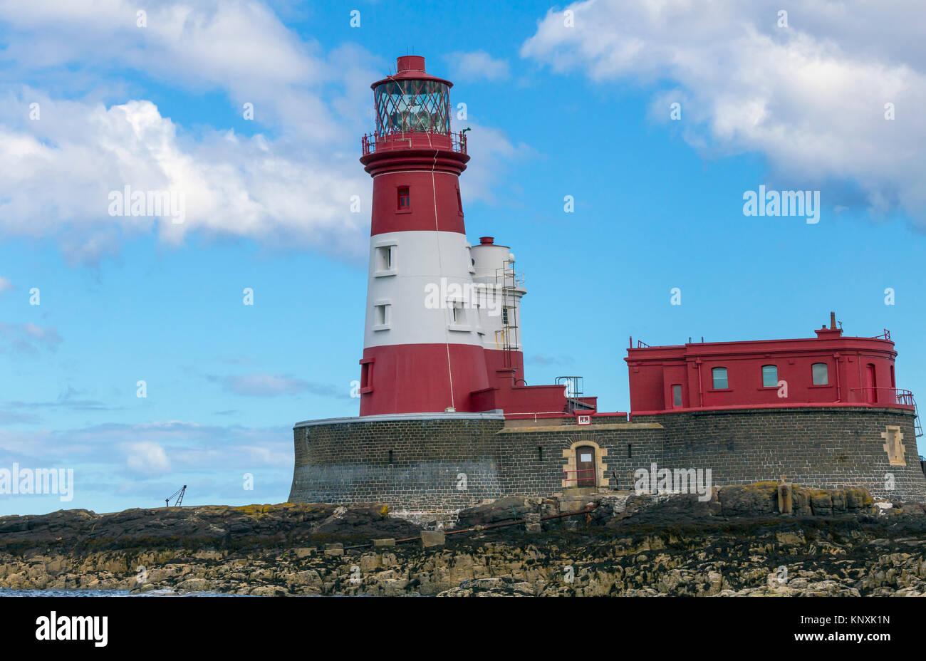 Longstone Lighthouse, Farne Islands Stock Photo