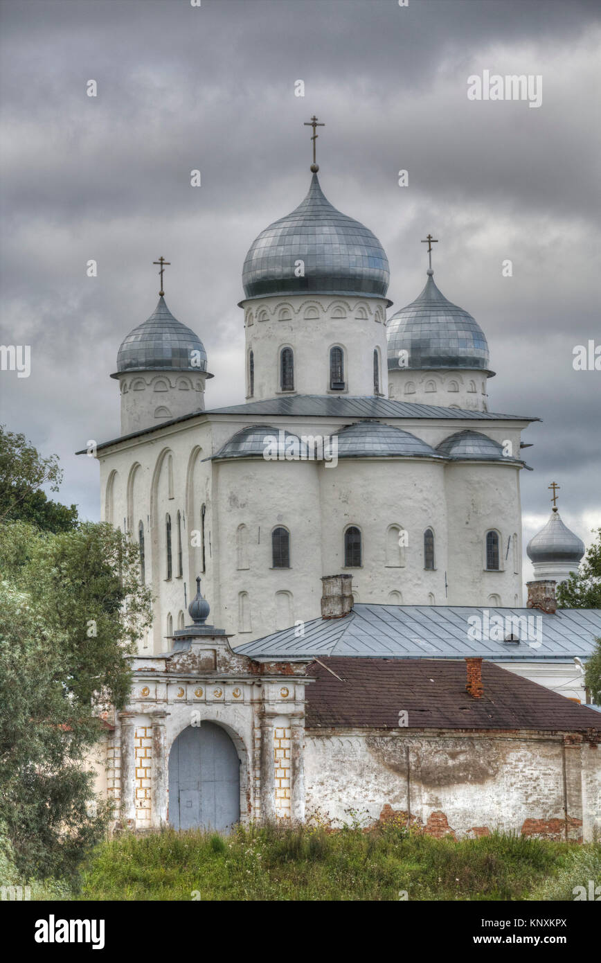 Zverin Monastery, UNESCO World Heritage Site, Veliky Novgorod, Novgorod Oblast, Russia - Stock Image