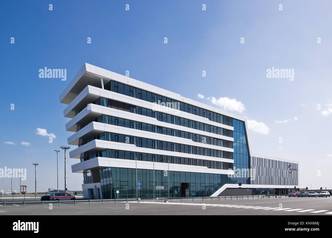 Terminal house, Wilhelmshaven, Niedersachsen, Jade Weser Port Stock Photo