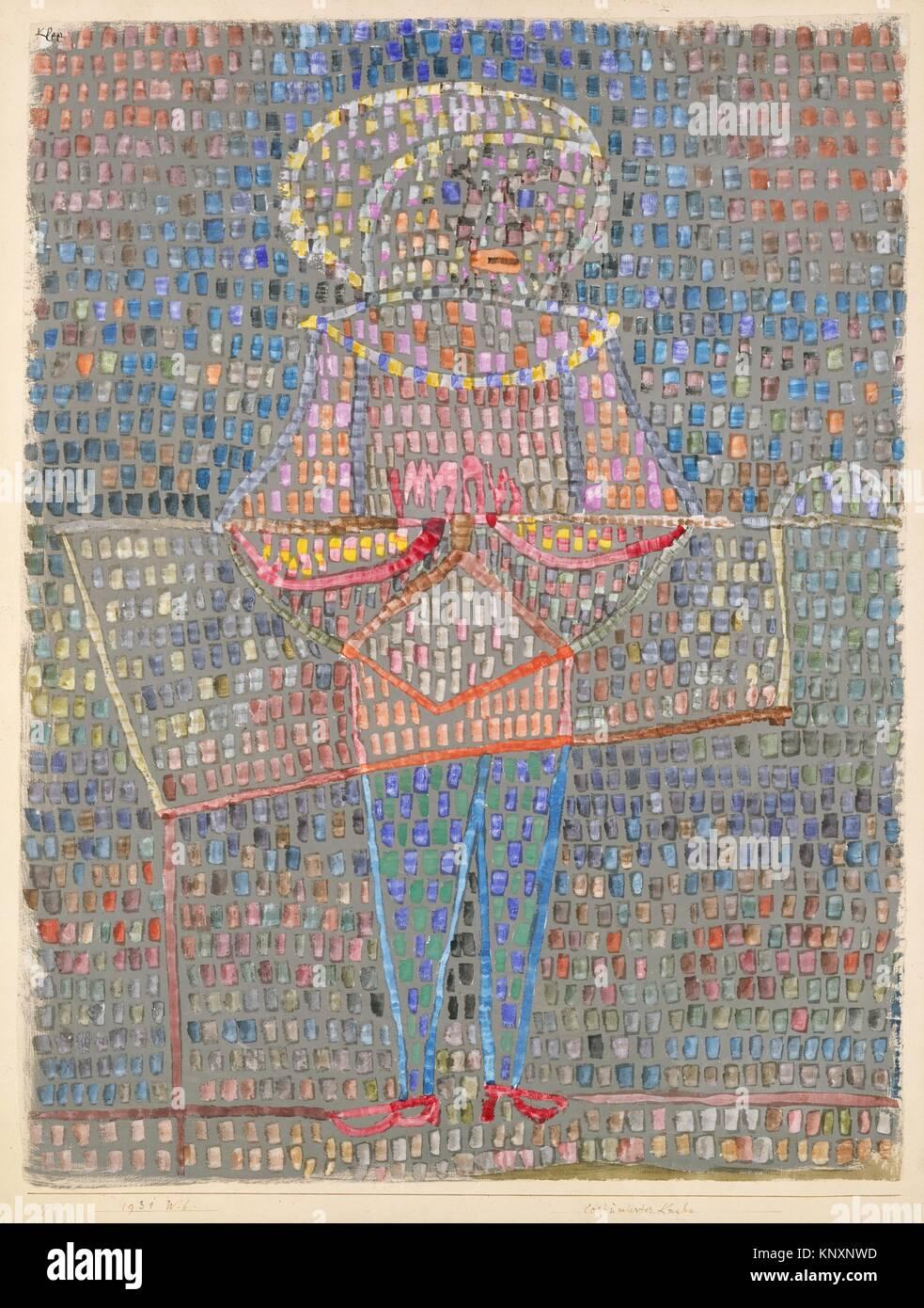 Boy in Fancy Dress. Artist: Paul Klee (German (born Switzerland), Münchenbuchsee 1879-1940 Muralto-Locarno); - Stock Image
