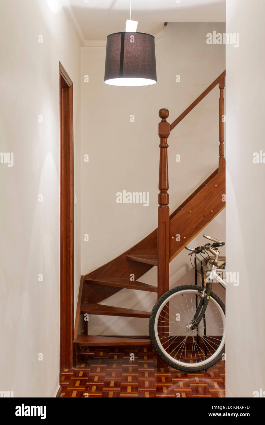 View Of Stairs Inside Of A House Stock Photo: 168389297   Alamy
