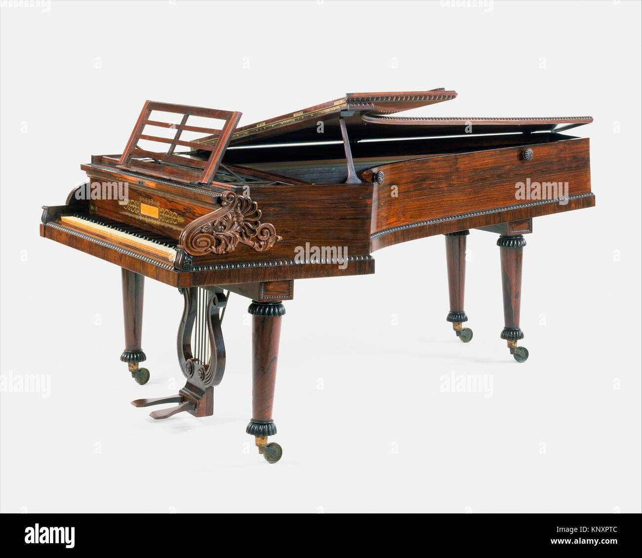 Grand Piano. Maker: John Broadwood & Sons; Date: 1827; Geography: London, England, United Kingdom; Culture: - Stock Image