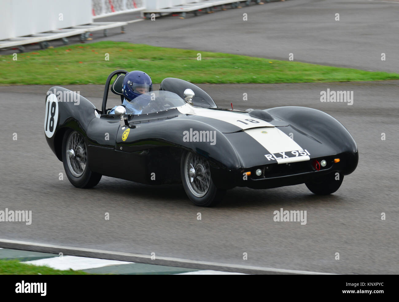 PLX 951, Nick Fennell, Lotus Climax Mk IX, Goodwood Revival 2013, Madgwick Cup Stock Photo