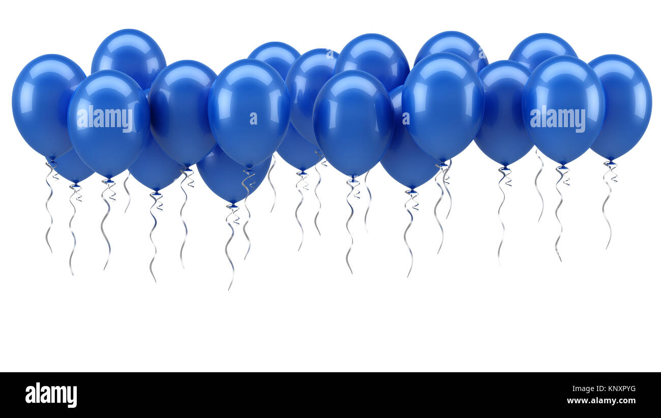 Blue Party Balloons Stock Photo 168389860