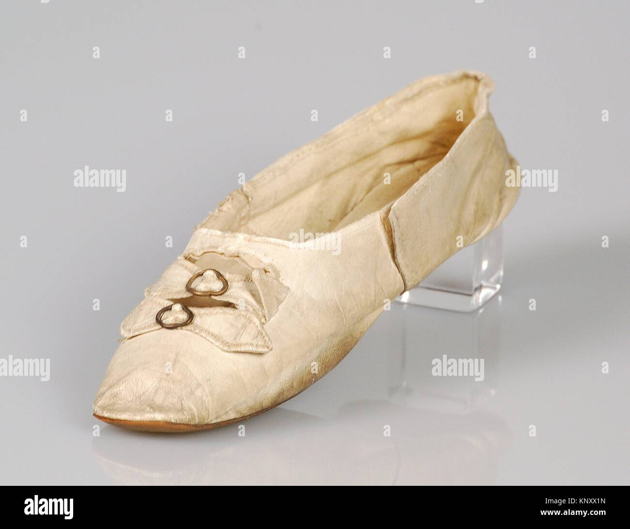 Slippers. Maker: Wrigglesworth (British); Date: 1845-65; Culture: British; Medium: Leather; Credit Line: Brooklyn - Stock Image