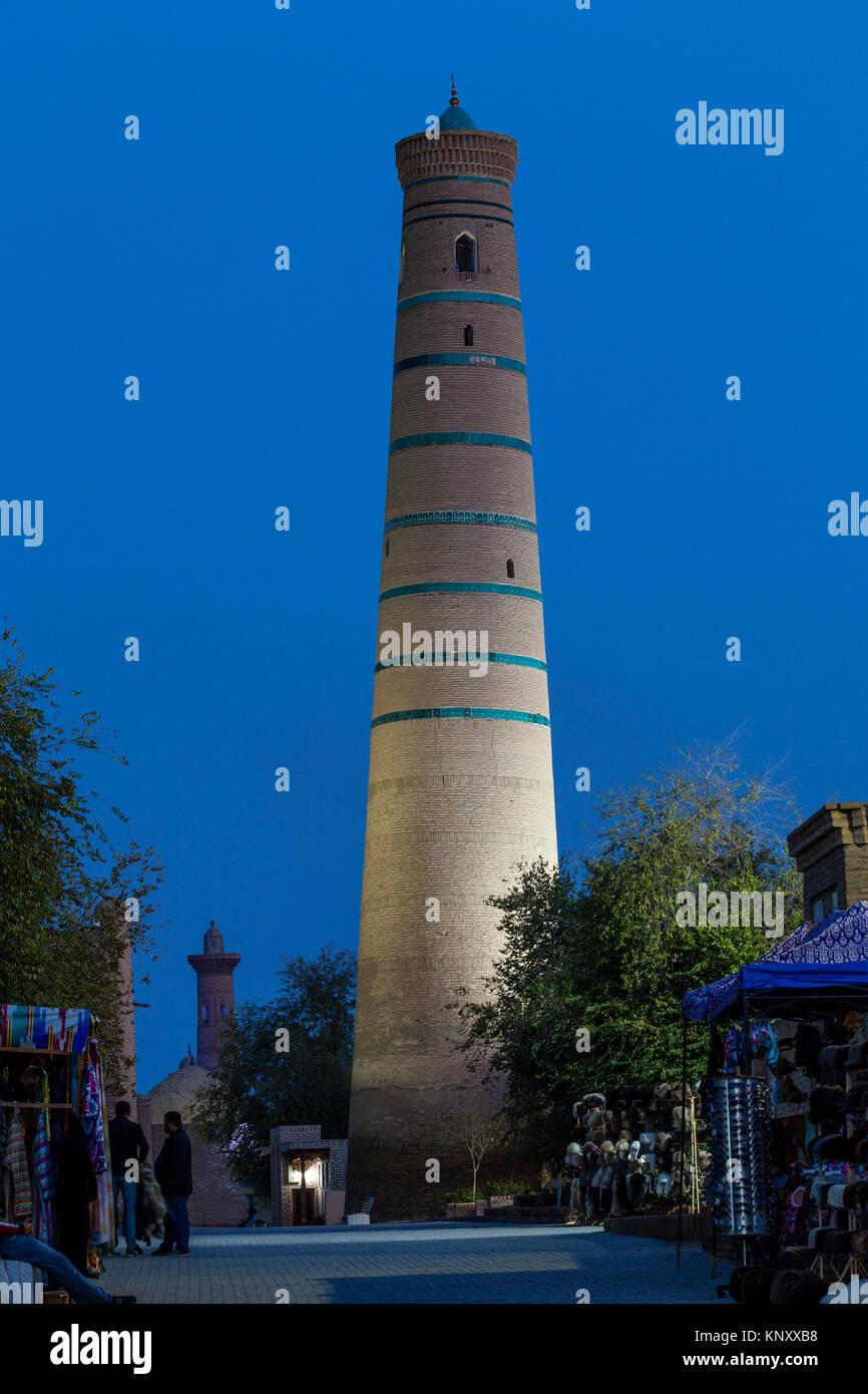 The Juma Minaret, Khiva, Uzbekistan - Stock Image