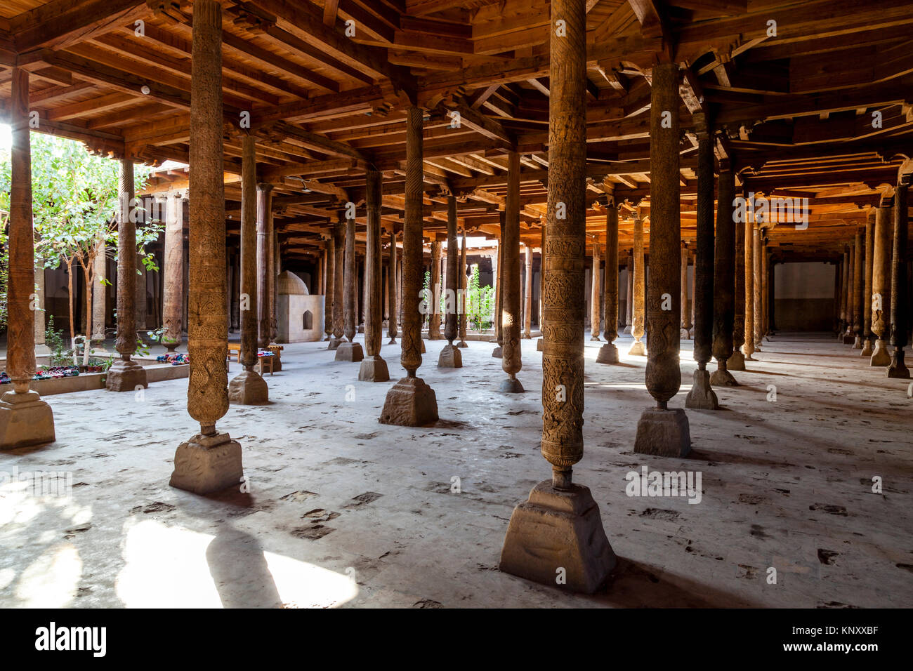 The Interior Of The Juma Mosque, Khiva, Uzbekistan - Stock Image