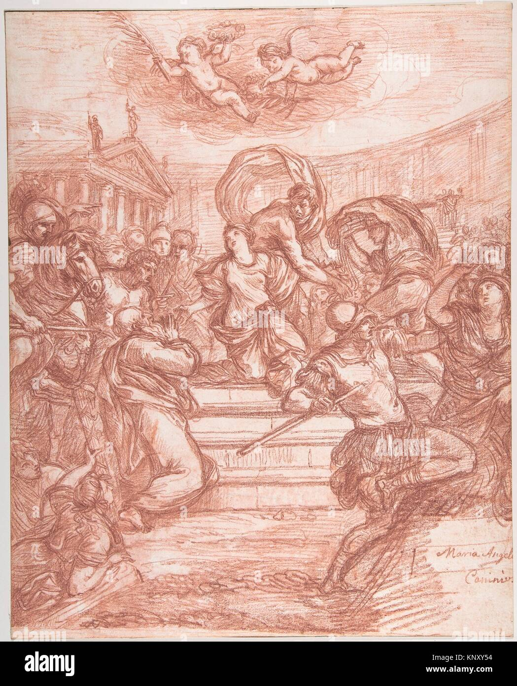 Scene of Martyrdom, after Giovanni Angelo Canini. Artist: Jean Robert Ango (French, active Rome, 1759-70, died after - Stock Image