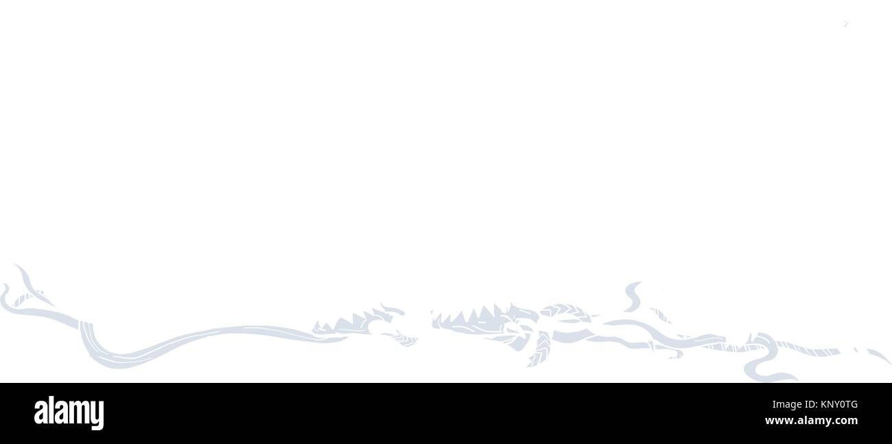 Drawing sketch style illustration of a polar bear, carnivorous bear in the Artic Circle, walking viewed from side Stock Vector