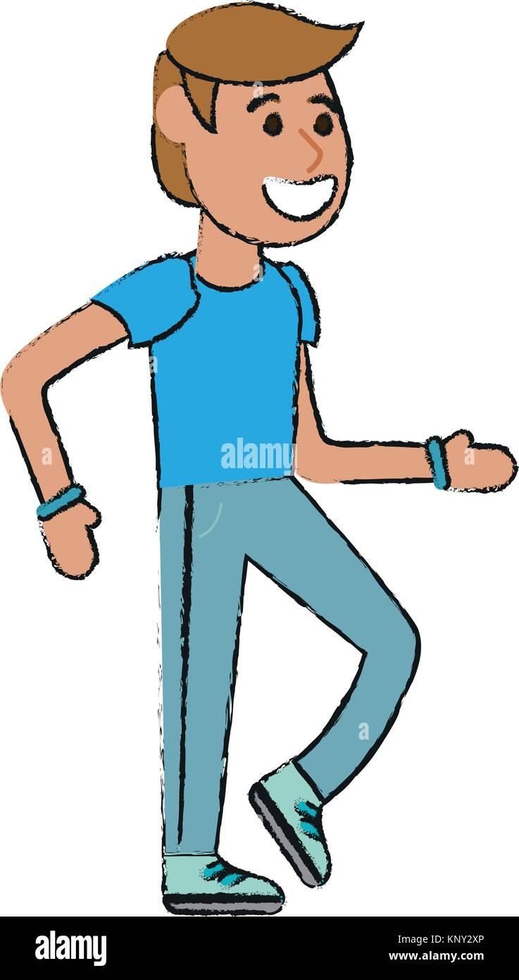 man walking cartoon stock vector art illustration vector image rh alamy com cartoon person waking up cartoon person walking away