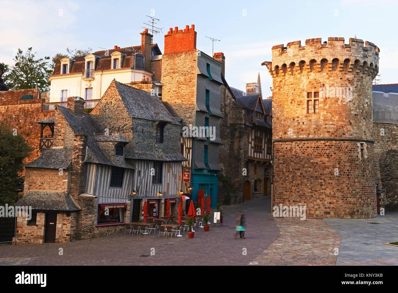 Vitre, Castle And Typical Houses, Ille Et Vilaine, Bretagne, Brittany