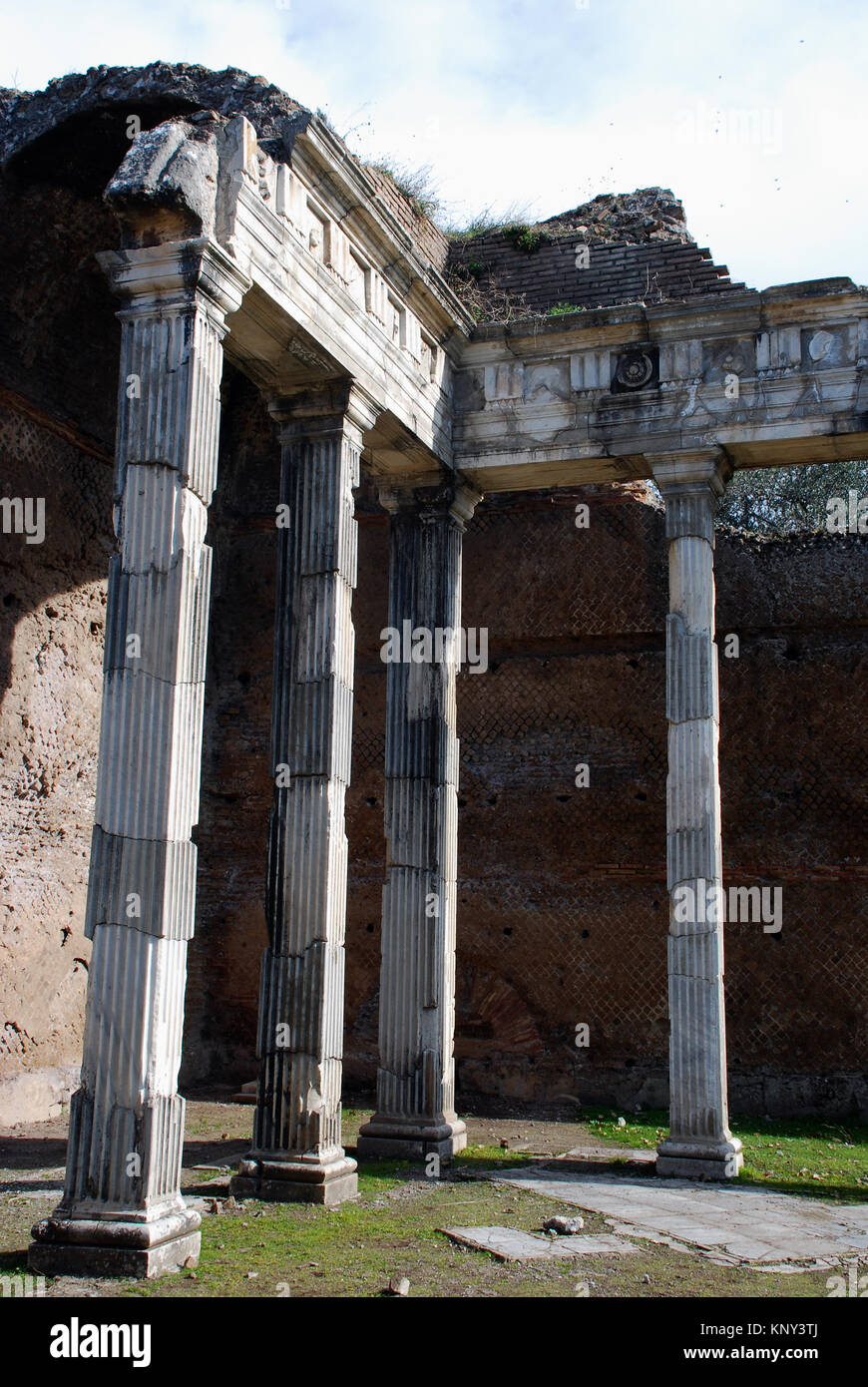Hadrian's Villa was constructed in the 2nd Century AD as a retreat for the Roman emperor Hadrian Stock Photo