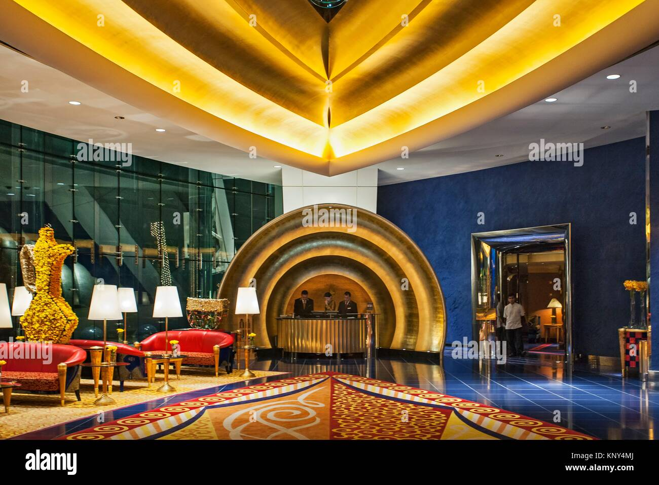 Burj Al Arab Hotel Reception High Resolution Stock Photography And Images Alamy