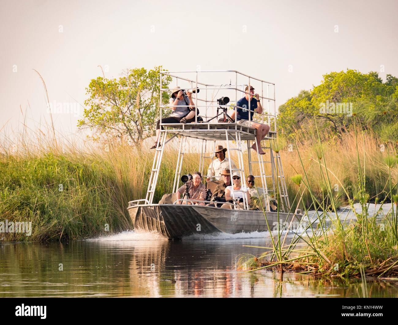 Botswana. Boat. - Stock Image