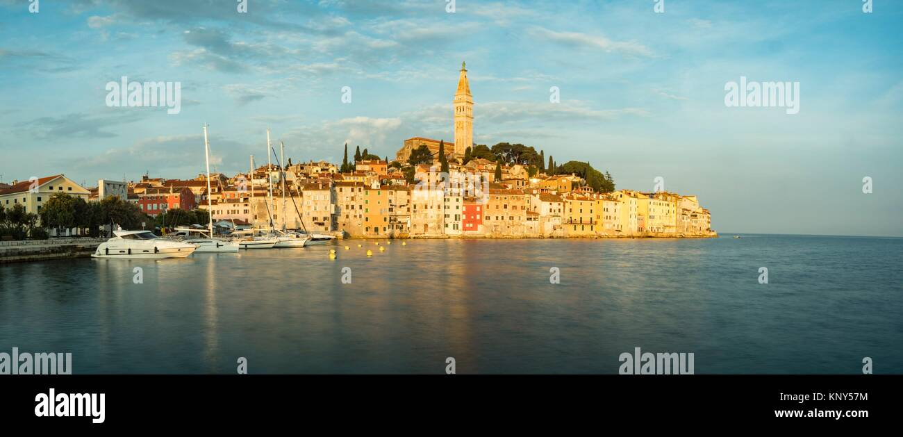 Rovinj Croatia Seaside Sunrise. - Stock Image