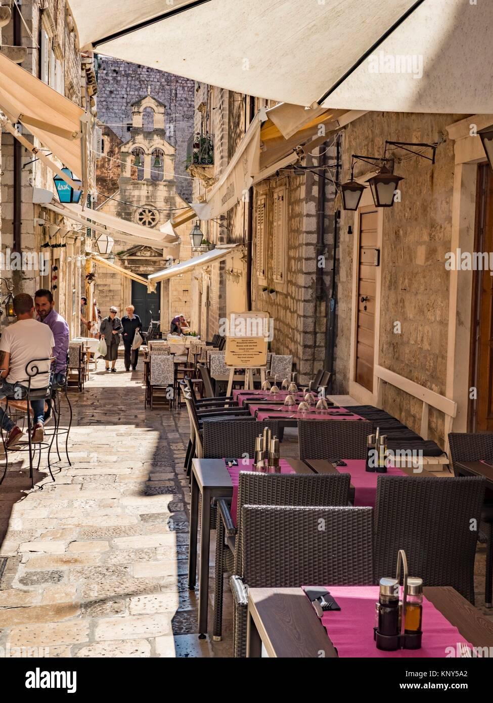 Dubrovnik Croatia Street Scene. - Stock Image