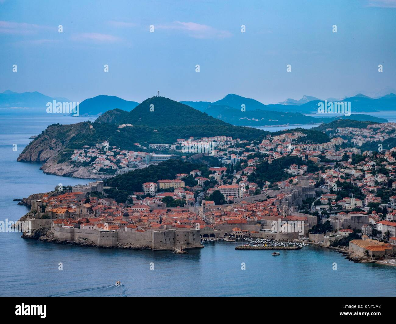 Dubrovnik Croatia Overview Old Town. - Stock Image